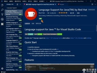 Language Support for Java(TM)(Visual Studio Code 擴充功能):JAVA 支援必備擴充