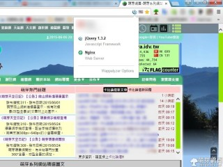 Google Chrome擴充功能:Wappalyzer