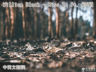 【西洋電音】William Black - Miss It ft. RUNN【中英文附詞】